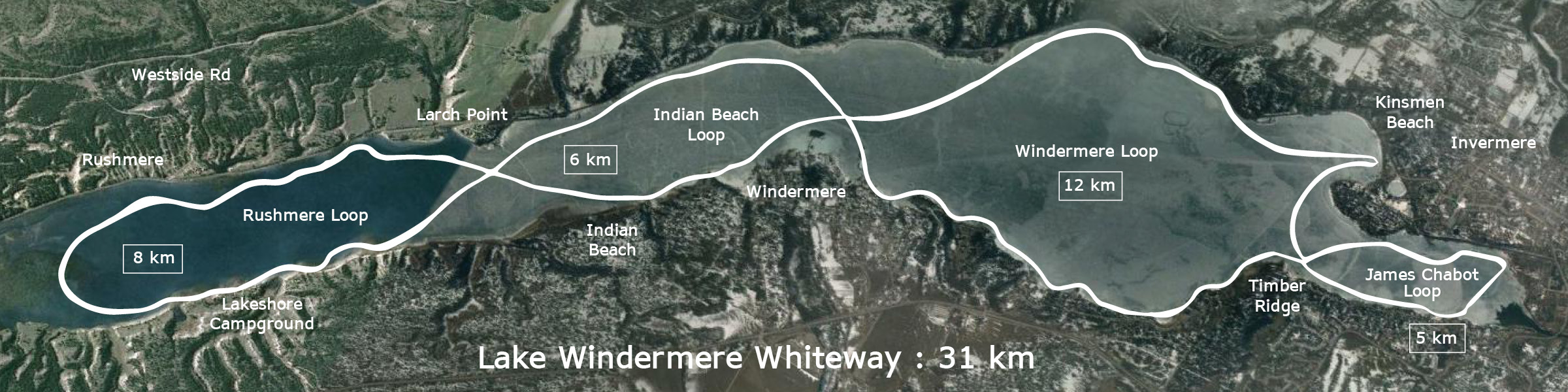 Lake Windermere Whiteway - map